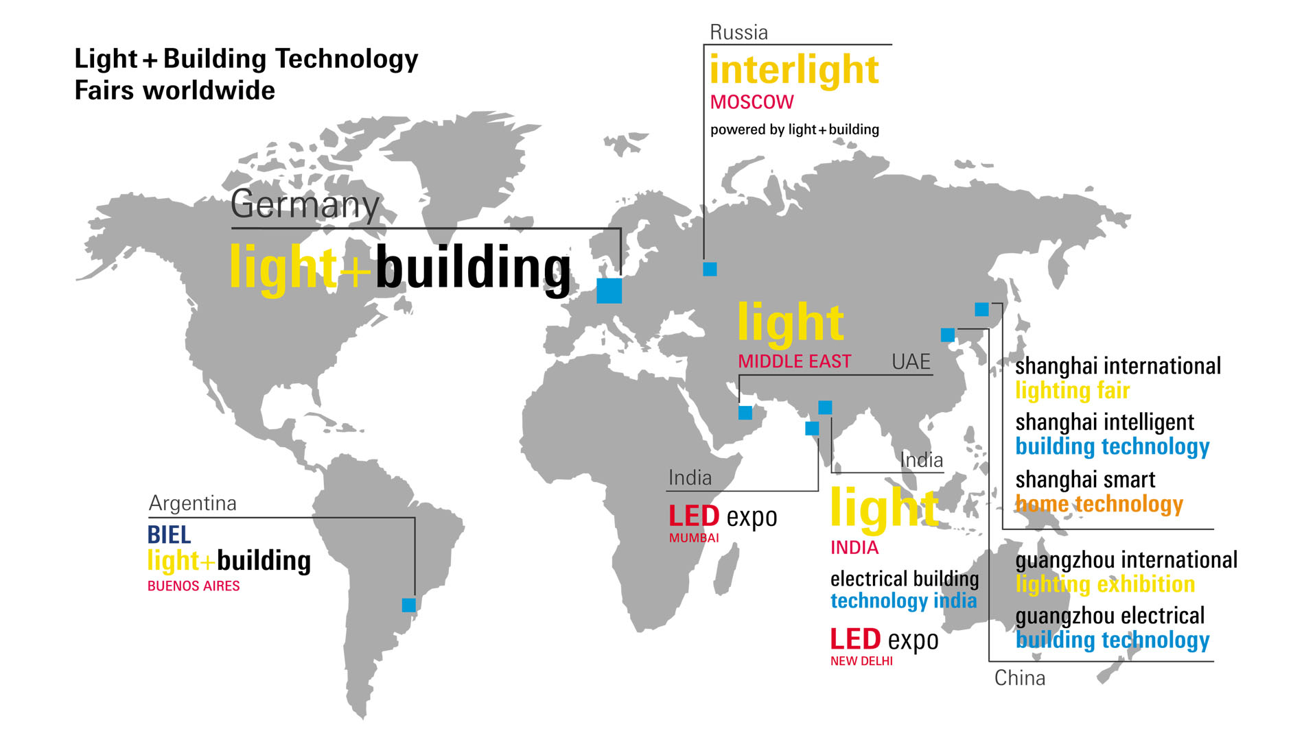 Light + Building Technology Fairs worldwide